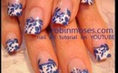 Delfts Blauw Dutch royal design blue on french: robin moses nail art tutorial