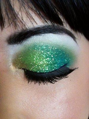 glittery eye using glitter from micheals!