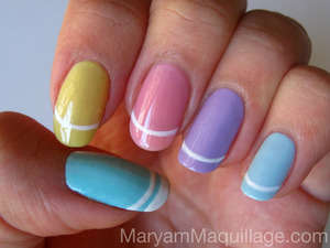 Nail Painting for Easter! All info on my blog: http://www.maryammaquillage.com/2012/04/nail-painting-for-easter.html