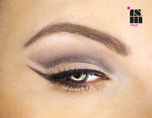 open cut-crease with a winged liner