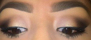 colors used:  foxy(highight) tease(crease)  bootycall and halfbaked (lid colors) Busted and Blackout (outter V)