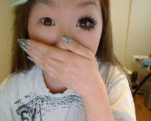 My before and after - look is inspired by gyaru