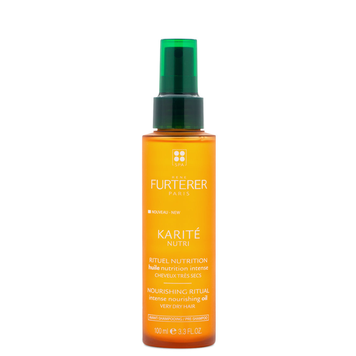 Rene Furterer Karite Nutri Intense Nourishing Oil product smear.