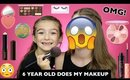 6 YEAR OLD DOES MY FULL FACE OF MAKEUP!