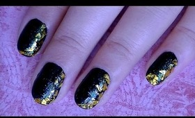 New Year Gold Foil Manicure