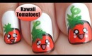 Kawaii Tomato Nail Art ◕‿◕ かわいい!