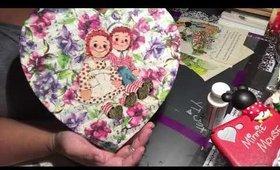 Mod Podge Project: Raggedy Ann &Andy ❤️ Shaped Box
