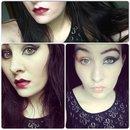 #motd Smokey eyes with dark lip