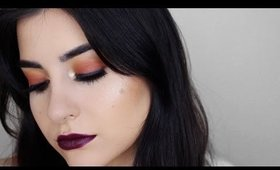Orange Fall Makeup Tutorial | ABH Modern Renaissance Palette