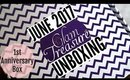 GLAM TREASURE BOX June 2017 | UNBOXING & REVIEW | 1st Anniversary Box | Stacey Castanha