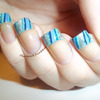 The Nail Junkkie - Striped French Manicure