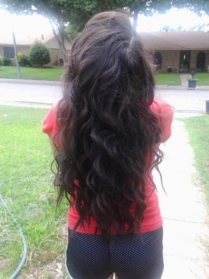 My sister's long hair NO EXTENTION USED!!!