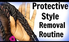 Protectives Styles on Natural Hair| A How To Avoid Breakage Take Down Method #Napchat