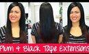 Tape Hair Extension Application - Plum & Black | Instant Beauty ♡