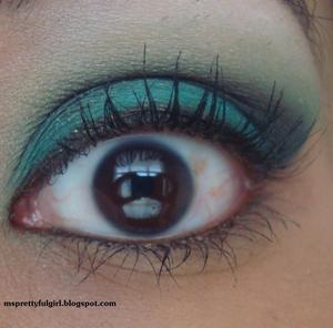 """Challenge: Black, Gold, and Teal"" http://msprettyfulgirl.blogspot.com/2011/04/challenge-black-gold-and-teal.html"