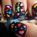 Cute Colorful Hearts Nails! ❤