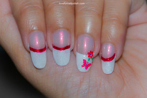 See the detail Tutorial http://lovefornailpolish.com/white-french-tip-nail-design-do-your-own-french-manicure
