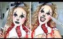 Scary Killer Clown Makeup Tutorial ♡ Halloween w/ Alex Faction
