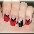 True Blood inspired nail design