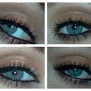 Shimmery brown with natural looking falsies