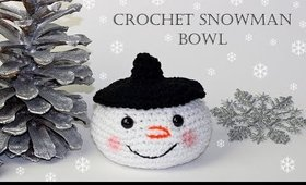 How To Crochet for Beginners | Snowman Bowl