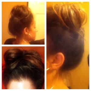 messy bun hair do for this summer.