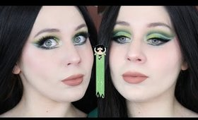 Power Puff Girls Buttercup Green Cut Crease Makeup Tutorial 2020 | Lillee Jean