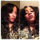 Saga Gold hair and I wand curled it!!💁
