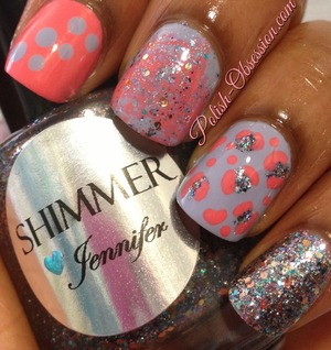 Mix n Match http://www.polish-obsession.com/2013/07/busy-girls-summer-nail-art-challenge_22.html