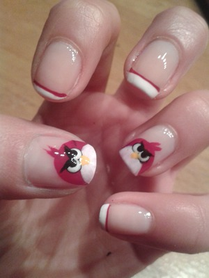 I made this easy angrybirds nails! hope you like them!!