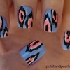 Ikat Print Nails