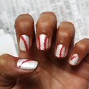 Baseball Laces - Vinyl Nail Decals