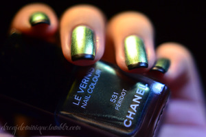 Products: http://dreajdominique.tumblr.com/post/13967849010/chanel-peridot-bitches-out-of-the-blue-my-aunt