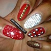 Red Mix Match Nails