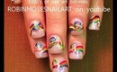 rainbow braided hair with ladies nail art robin moses nailart tutorial design 648