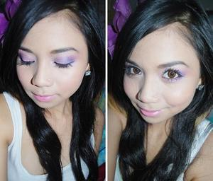 Purple Orchid Makeuplook that I did a longgg time ago :)