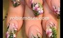 Tropical Jungle Flower floral design: robin moses nail art tutorial