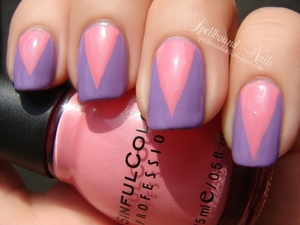 Sally Hansen No Hard Feelings and Sinful Colors Beautiful Girl. http://spellboundnails.blogspot.com/2012/10/no-hard-feelings.html