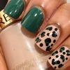 Leopard print mani.