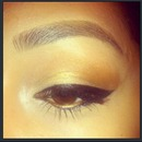 Simple Gold And Bronze Eye