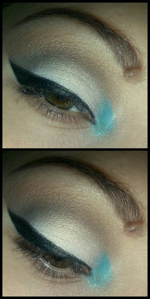 pretty simple I didn't feel like lashes today. :))