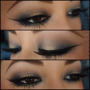 One of my favorite looks using 2 colors to create a tri-color look.