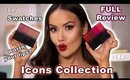NEW HUDA BEAUTY POWER BULLET LIPSTICKS - ICONS COLLECTION - FULL REVIEW | Maryam Maquillage