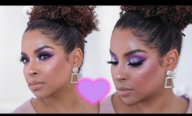 Romantic Valentine's Day look | Purple  Smokey Eye