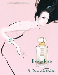 Oscar de la Renta's New Fragrance: live in love