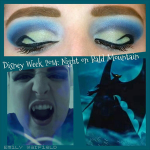 """My last Disney Week look was my favorite segment of Fantasia, """"Night on Bald Mountain."""" I decided to feature the terrifying demon Chernabog, summoner of souls and gateway to the lake of fire."""