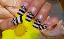 Black and White French With a Twist, Nail Art Design Tutorial - ♥ MyDesigns4You ♥