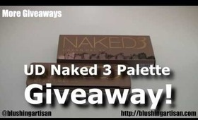 Urban Decay Naked 3 Palette Giveaway!!!  [Holiday Giveaway #2]