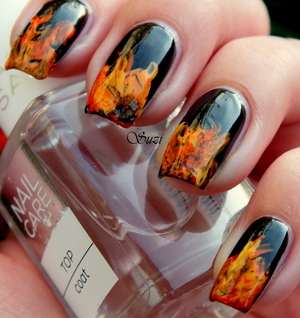 "This is the first nail design of ""Four Elements Challenge"" by Taya