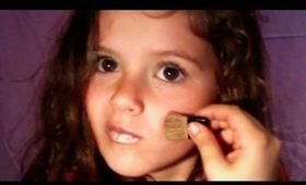 Everyday Natural Make-Up Tutorial by Emma, cute little kid 6 years old makeup